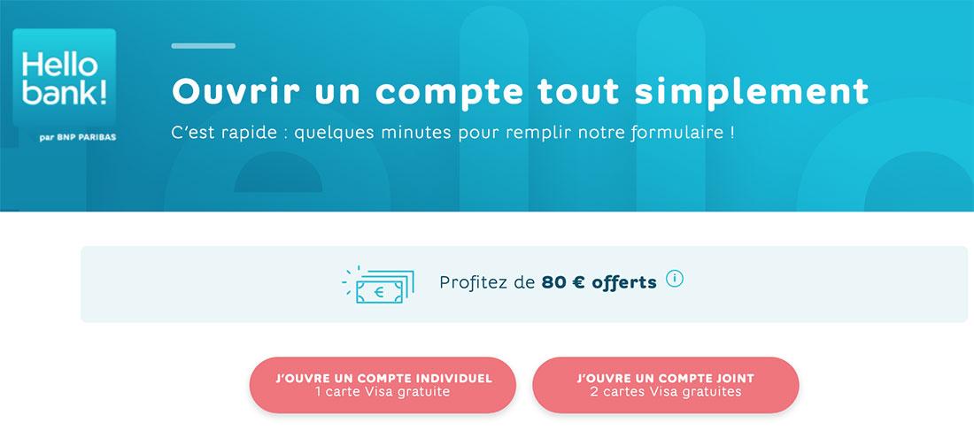 offre banque en ligne hello bank